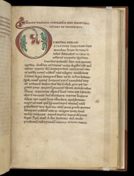 Decorated Initial, In A Volume Of Chronological Works By Helperic And Bede